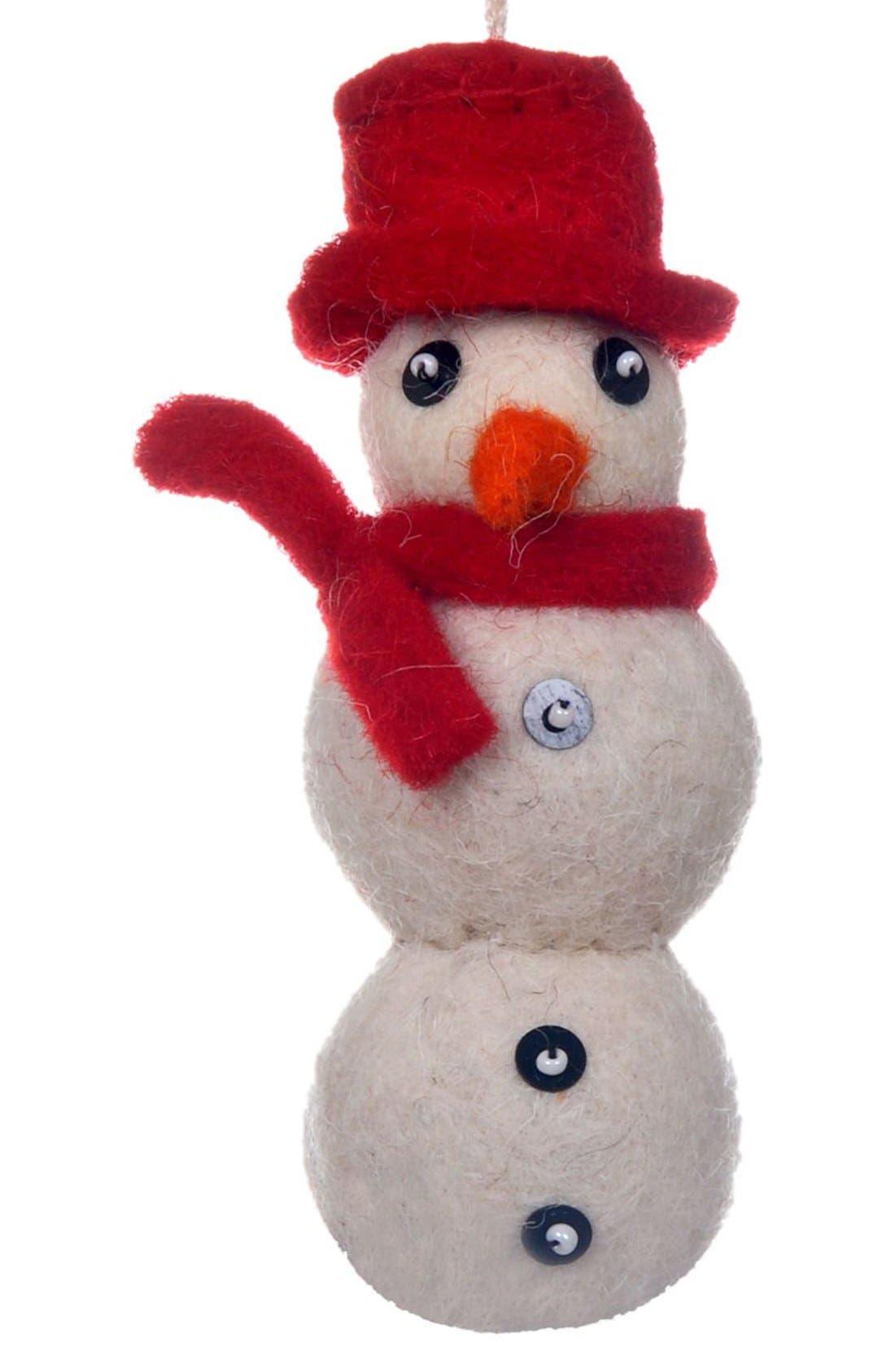 Main Image - Creative Co-Op Felt Snowman Ornament
