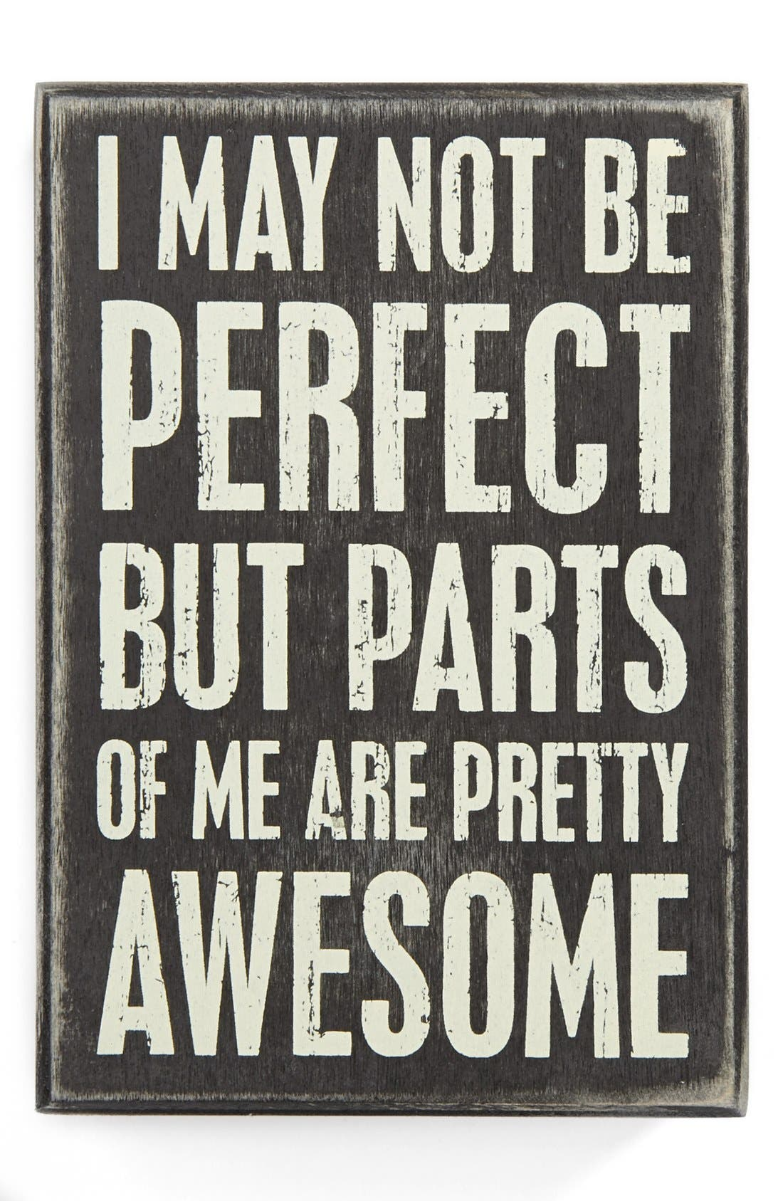 Alternate Image 1 Selected - Primitives by Kathy 'I May Not Be Perfect' Box Sign