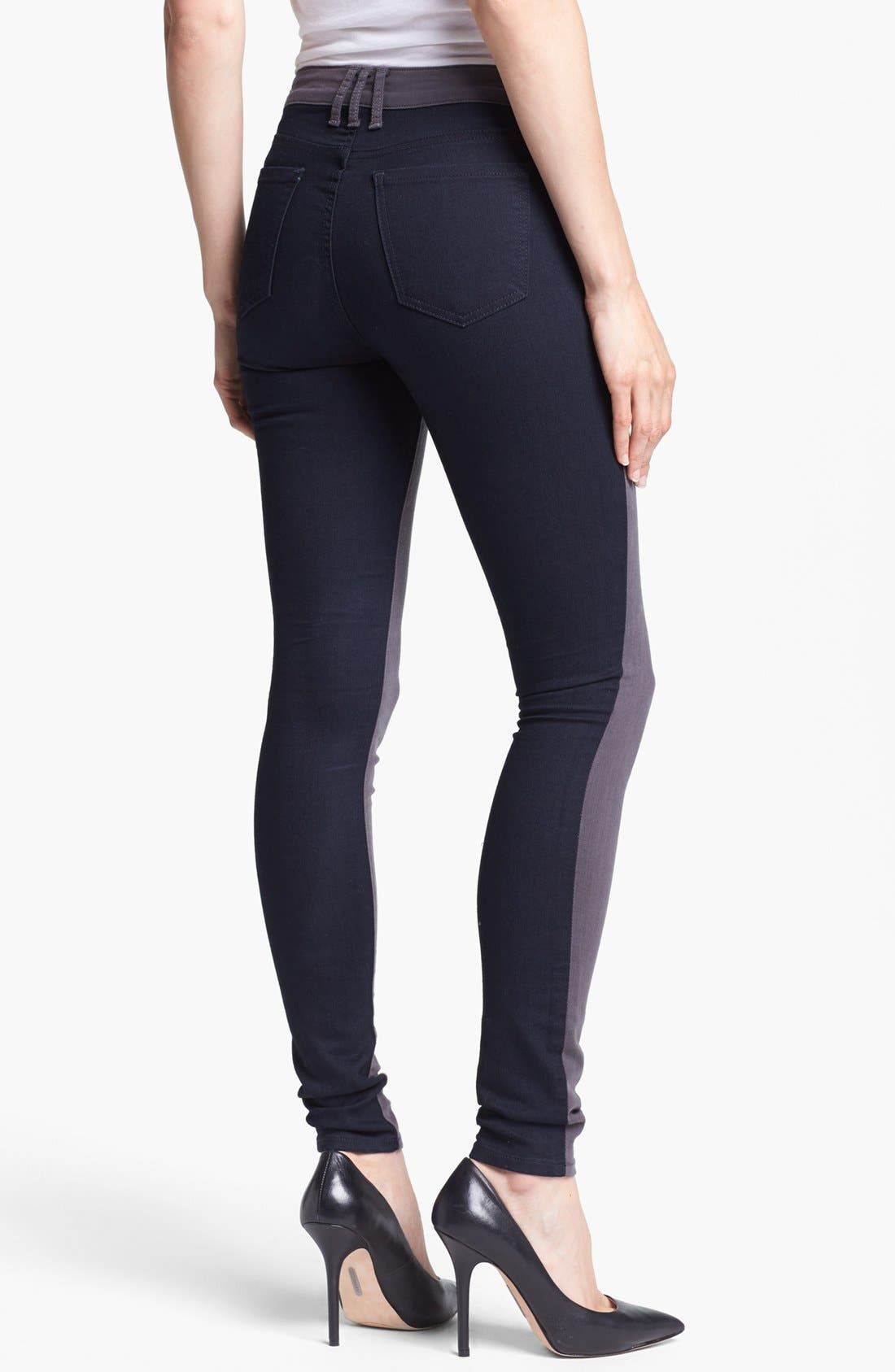 Alternate Image 2  - KUT from the Kloth Colorblock Skinny Jeans