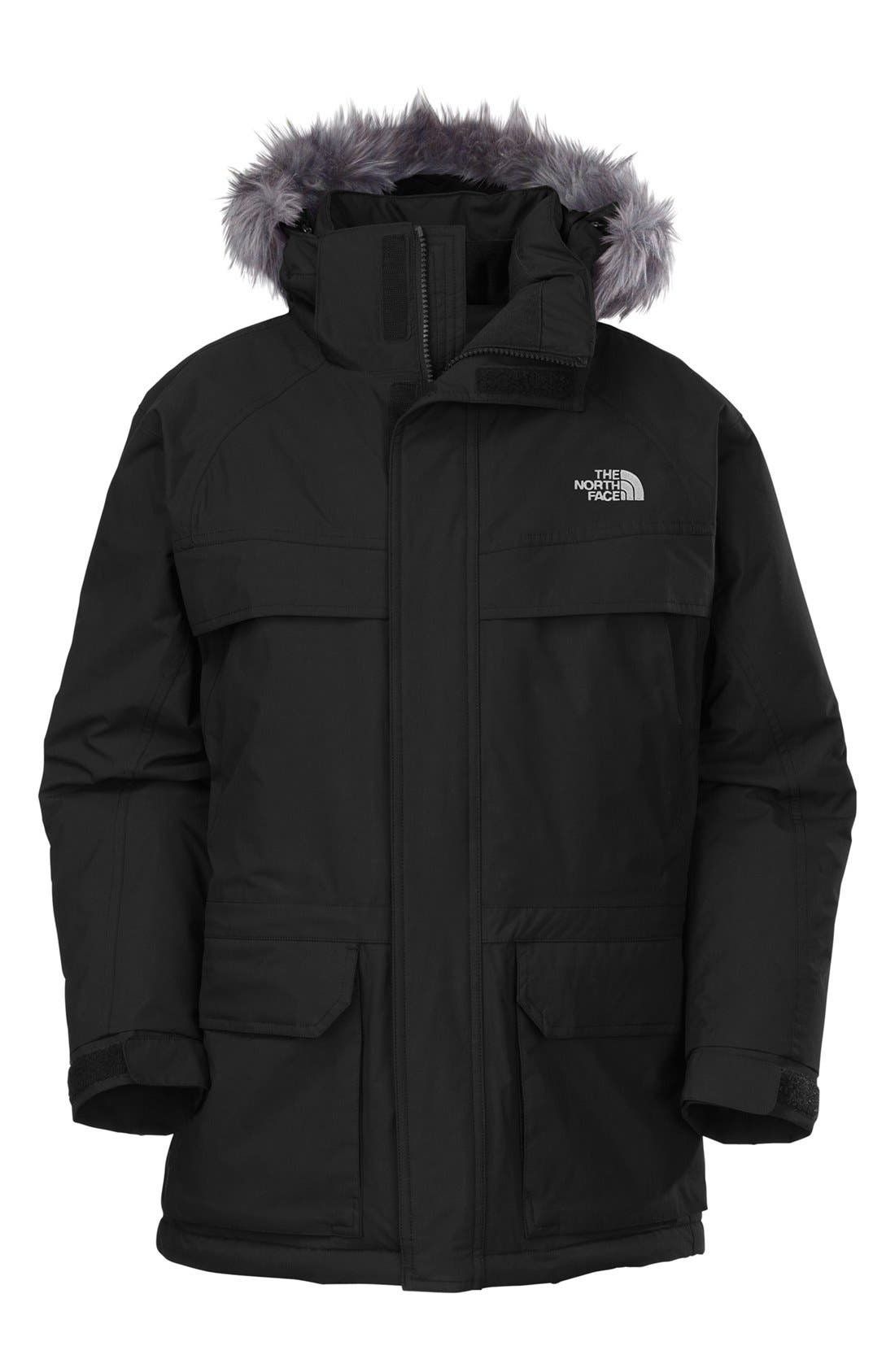 Main Image - The North Face 'McMurdo' HyVent® Waterproof Heatseeker Parka with Faux Fur Trim (Big Boys)