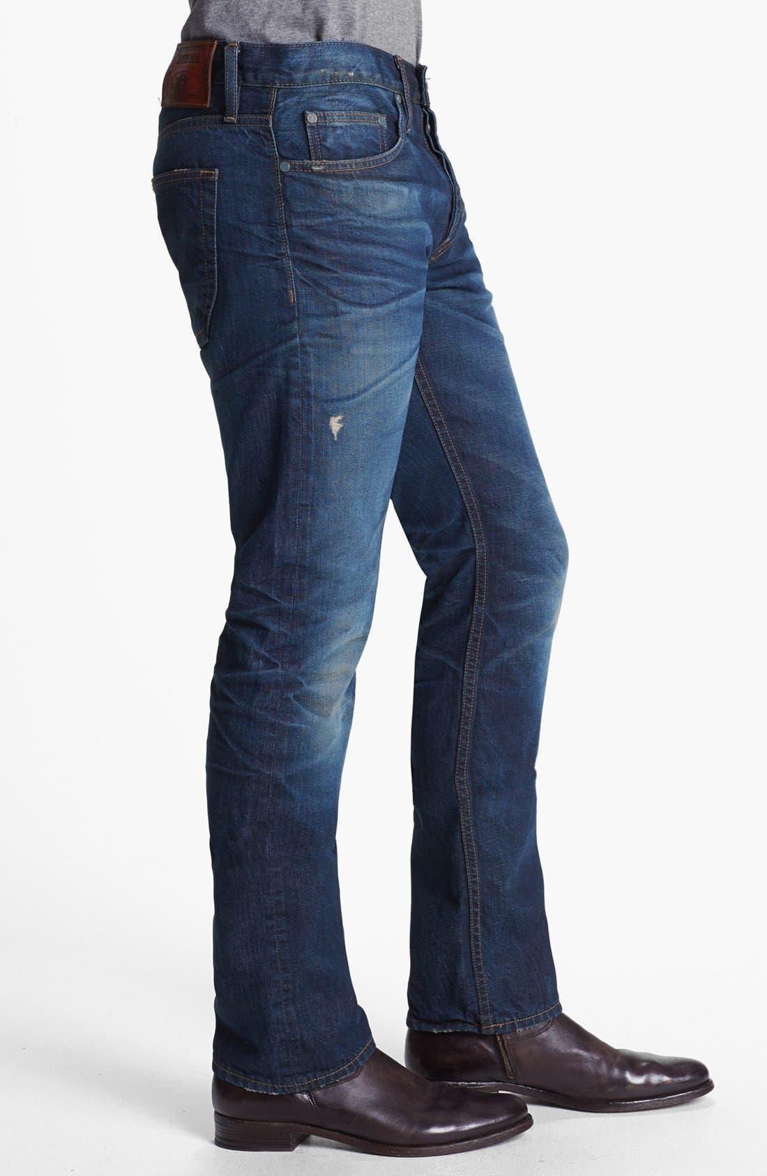Alternate Image 2  - Asbury Park '1874 Monte Carlo' Straight Leg Selvedge Jeans (Ocean Grove)