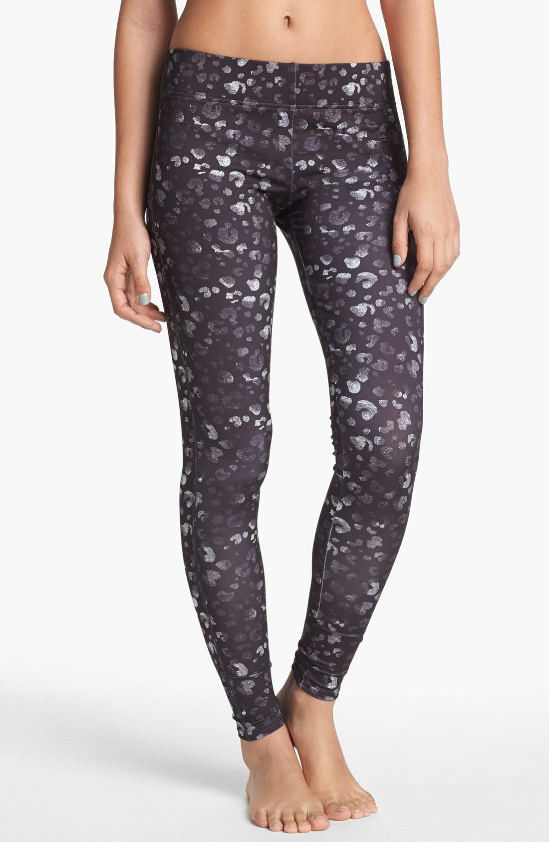 Main Image - BP. Undercover Print Leggings (Juniors)