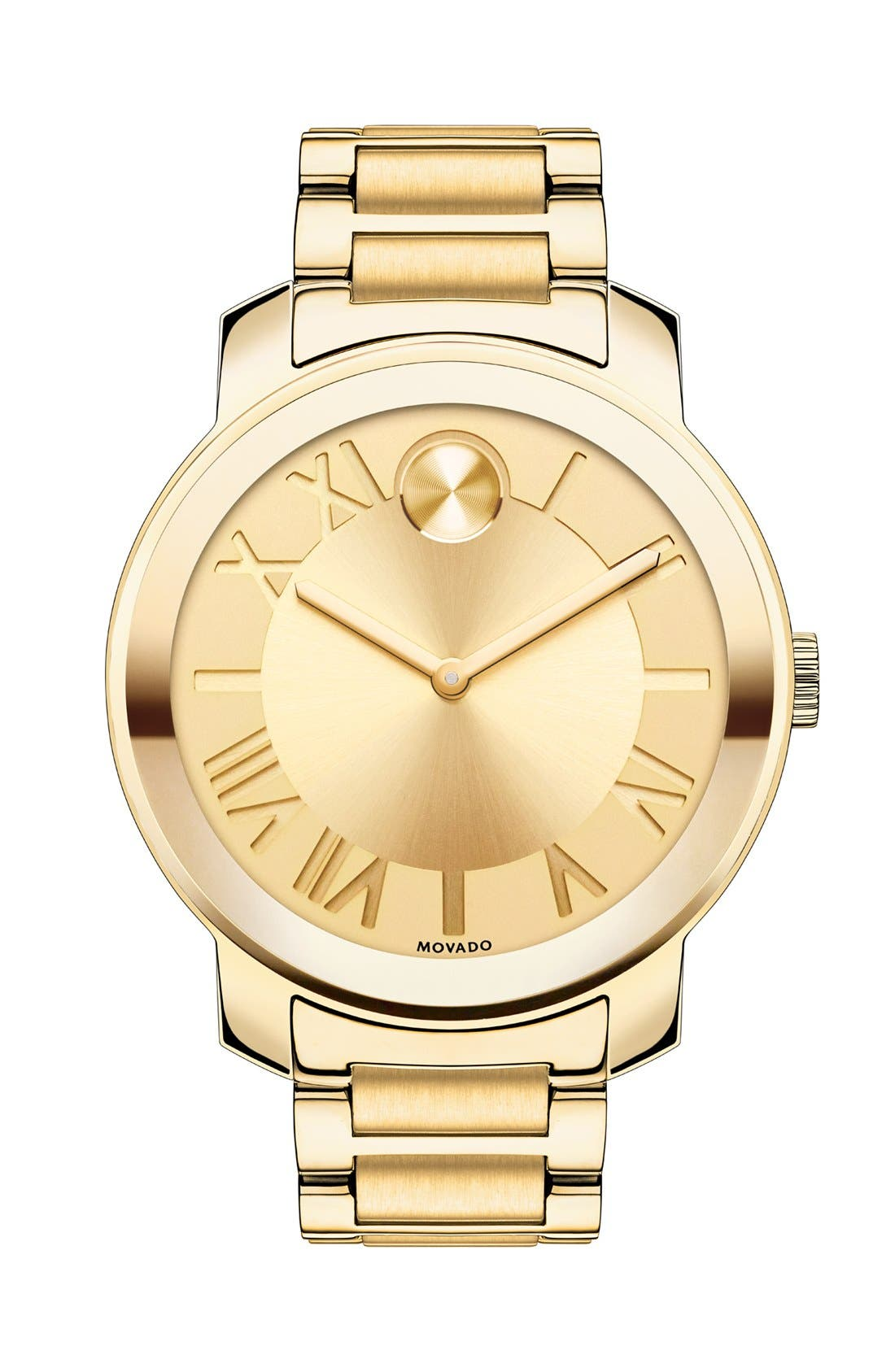 Main Image - Movado 'Bold' Roman Numeral Index Bracelet Watch, 39mm