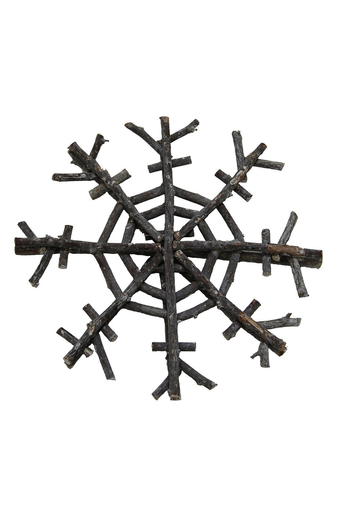 Alternate Image 1 Selected - Shea's Wildflower Driftwood Snowflake Ornament
