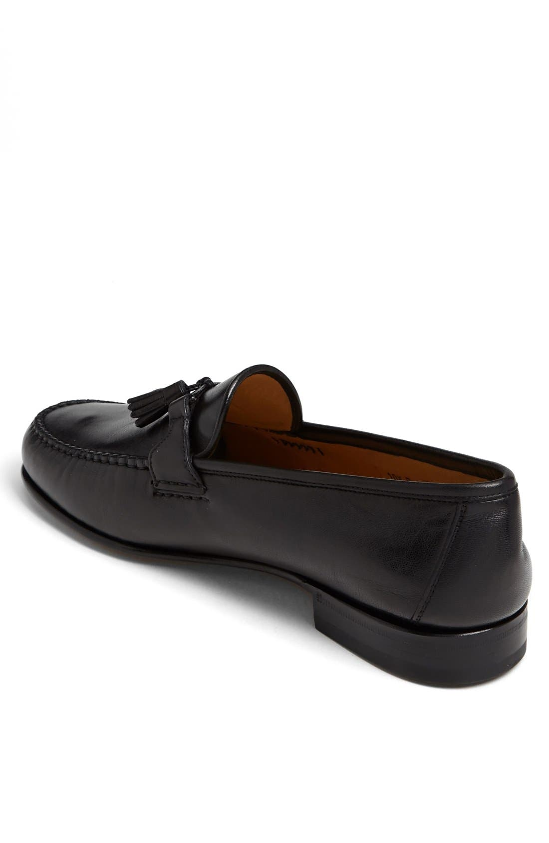 'Urbino' Tassel Loafer,                             Alternate thumbnail 2, color,                             Black