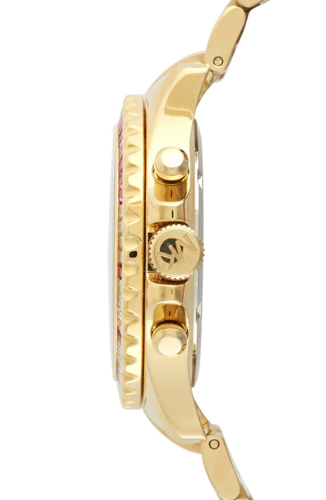 Alternate Image 3  - Michael Kors 'Everest' Baguette Crystal Bezel Bracelet Watch, 41mm