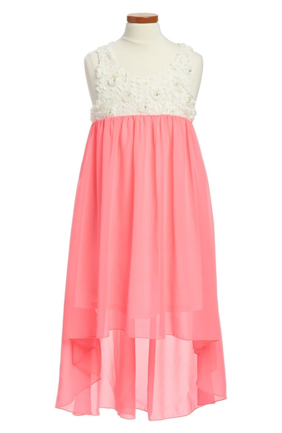 Alternate Image 1 Selected - Truly Me Chiffon Dress (Big Girls)