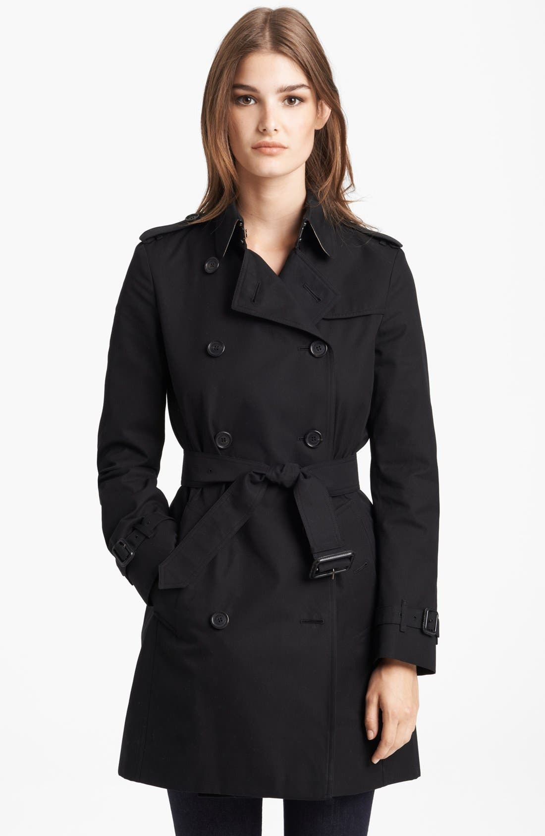 Alternate Image 1 Selected - Burberry London 'Buckingham' Double Breasted Trench Coat
