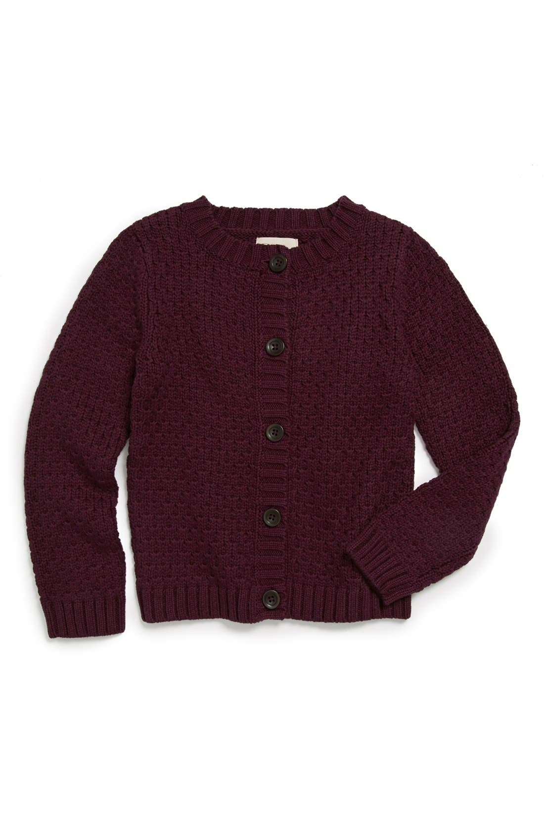 Alternate Image 1 Selected - Peek 'Simone' Cardigan (Toddler Girls, Little Girls & Big Girls)