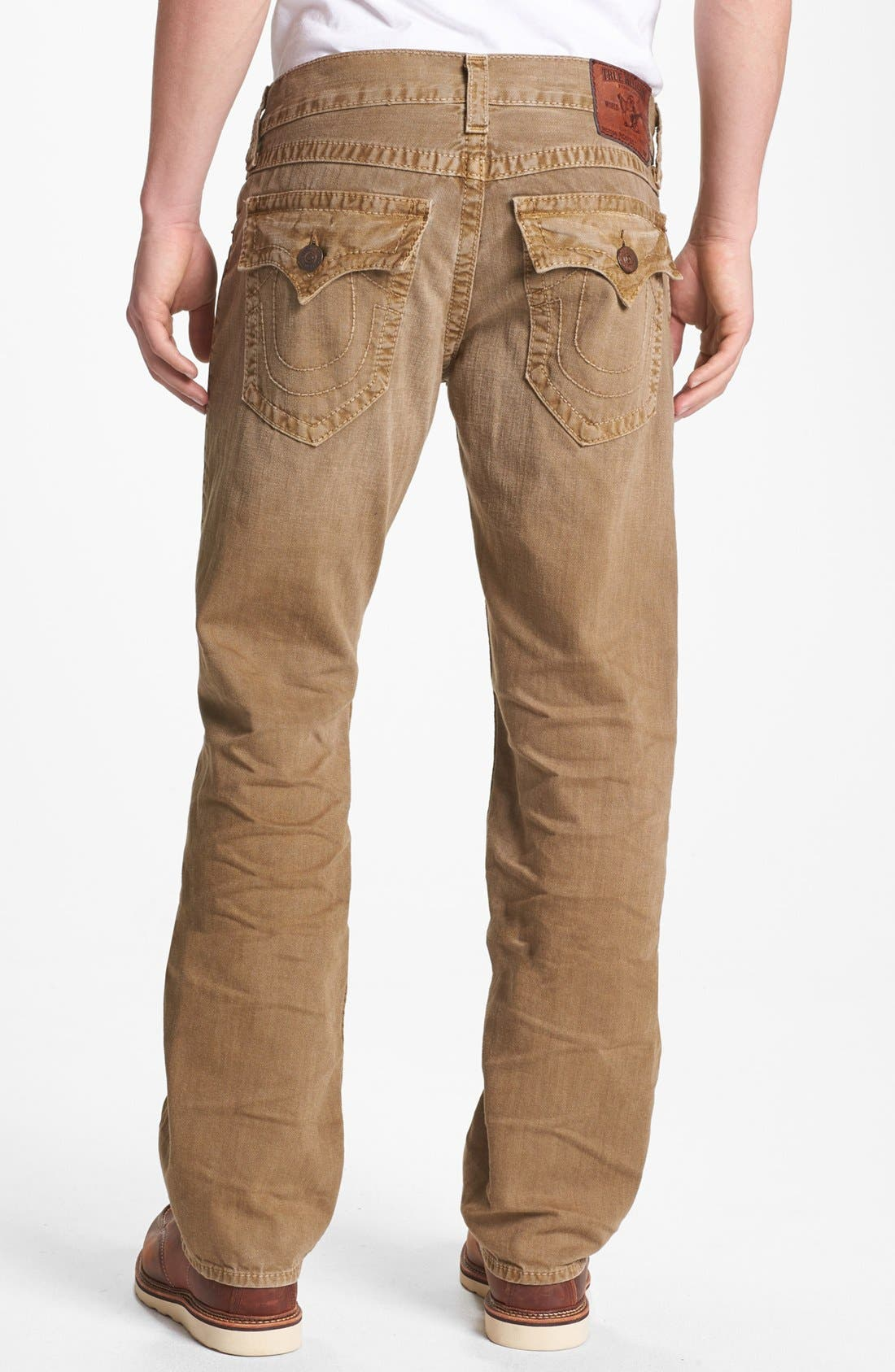 Alternate Image 1 Selected - True Religion Brand Jeans 'Ricky' Straight Leg Jeans (Assd Desert Sand)