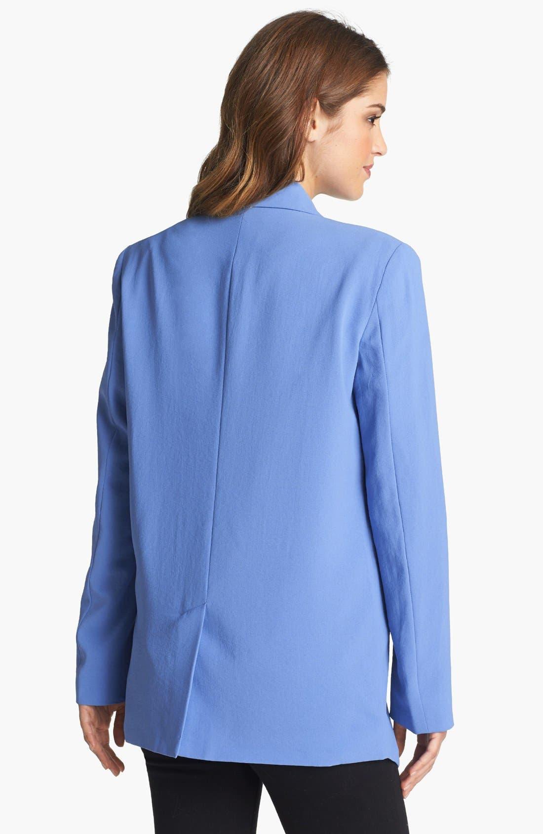 Alternate Image 2  - Kenneth Cole New York 'Hermia' Zipper Detail Open Front Blazer