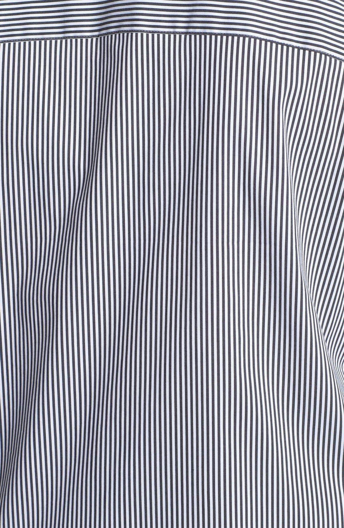 Alternate Image 3  - Foxcroft Stripe Shaped Shirt (Plus Size)