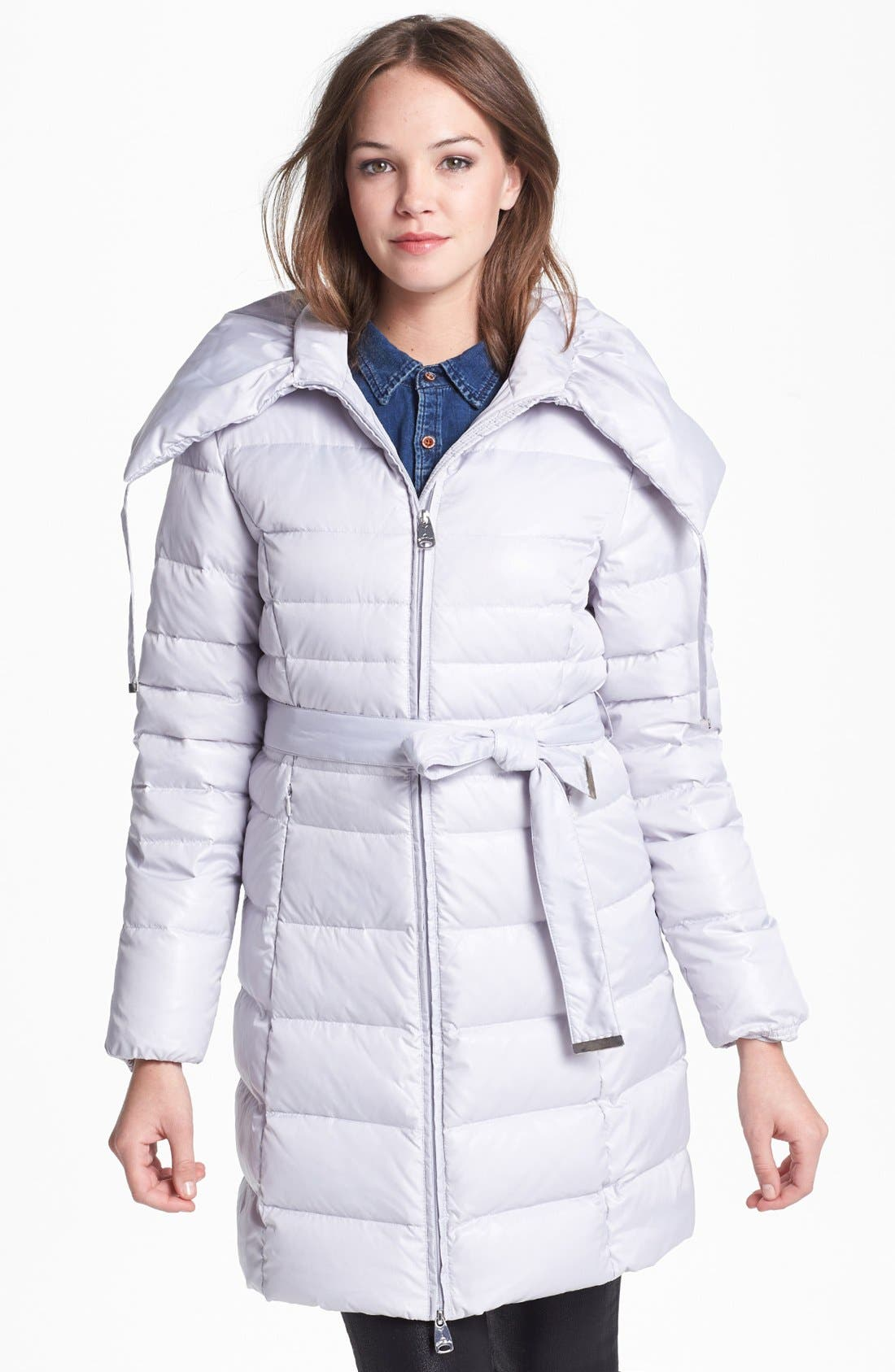 Main Image - Via Spiga Pillow Collar Down & Feather Coat (Online Only)