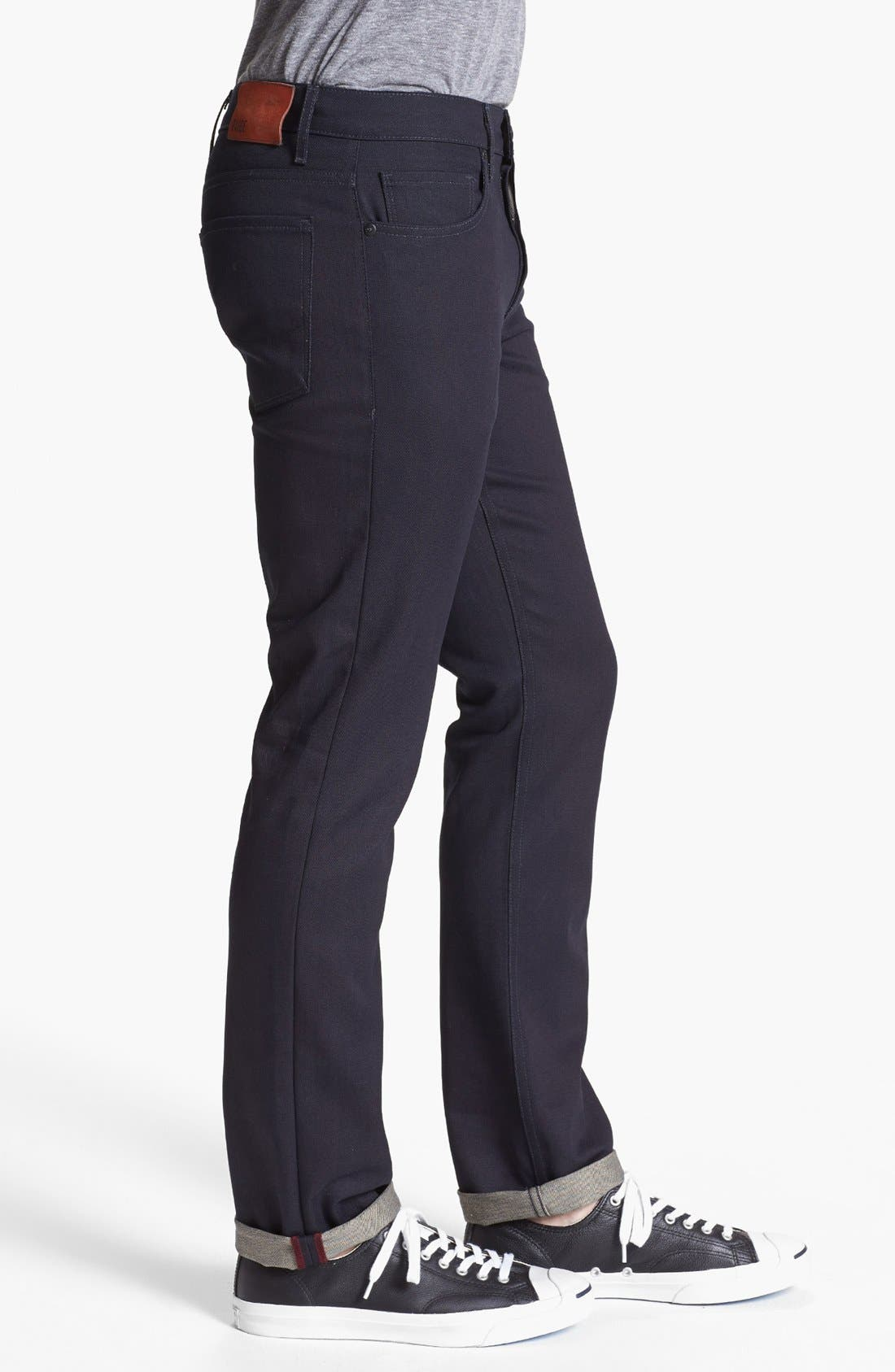 Alternate Image 3  - PAIGE 'Federal' Skinny Fit Selvedge Jeans (Eco Raw)