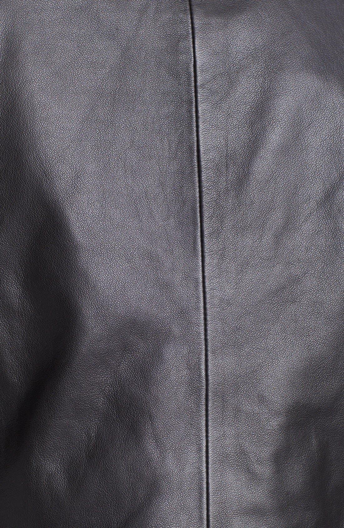 Alternate Image 3  - Hinge® Draped Suede & Leather Jacket