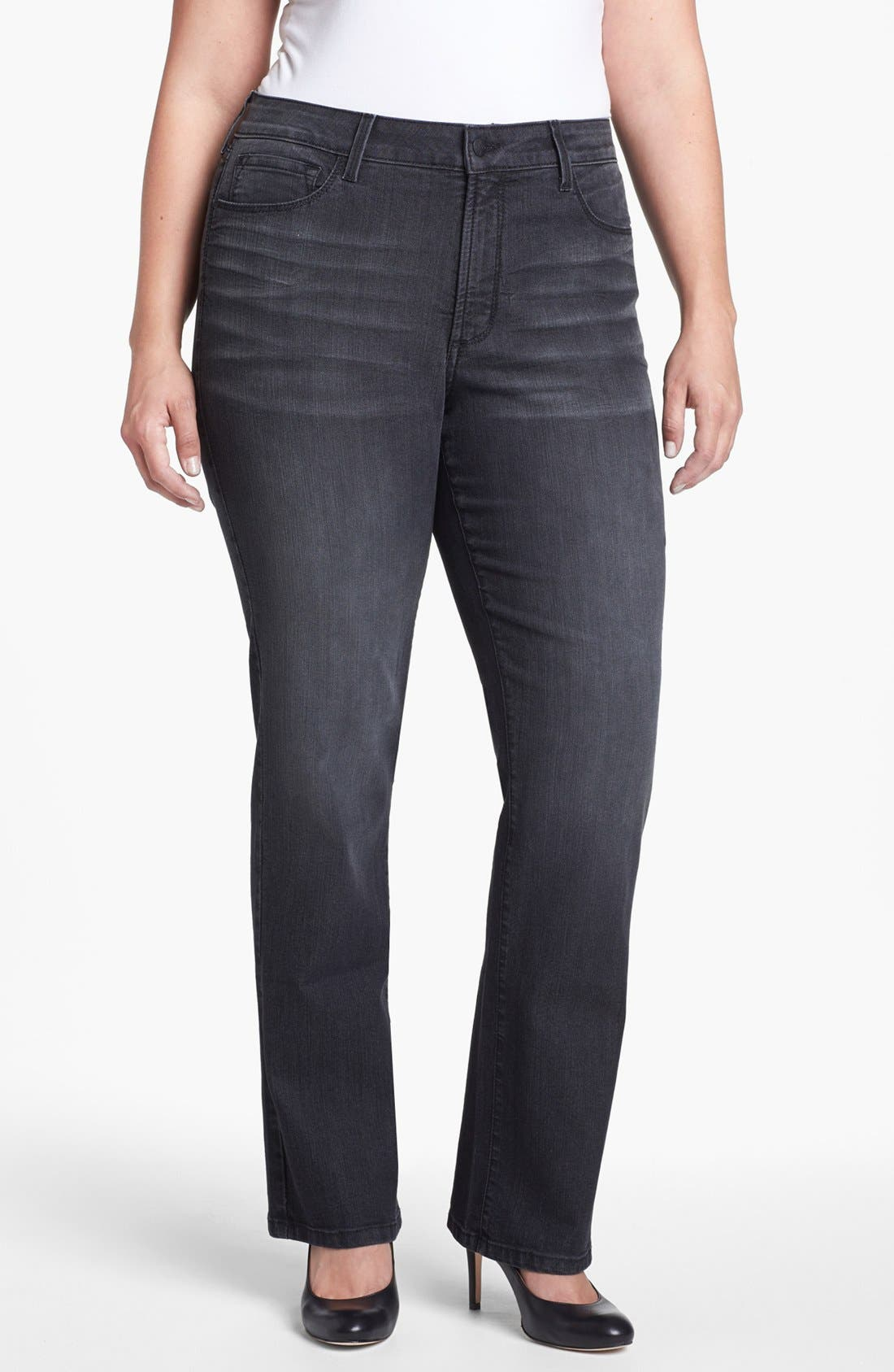 Main Image - NYDJ 'Marilyn' Straight Leg Jeans (Plus Size)