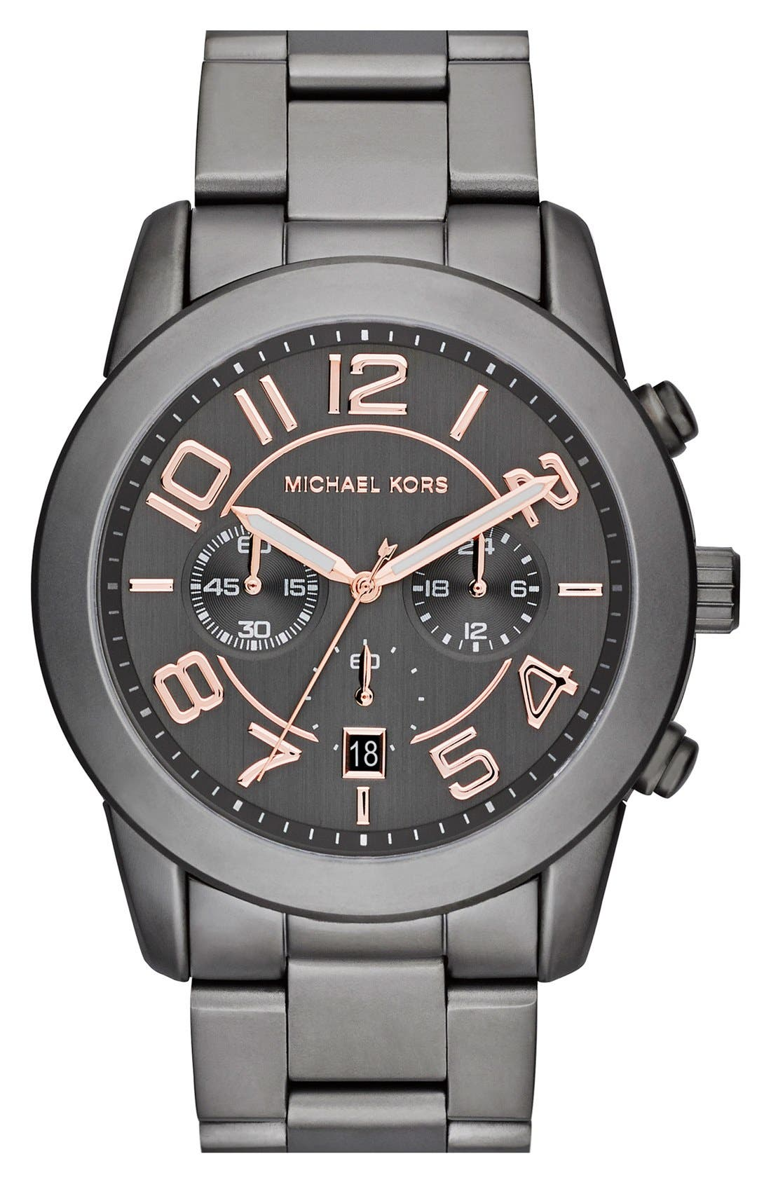 Alternate Image 1 Selected - Michael Kors 'Mercer' Large Chronograph Bracelet Watch, 45mm