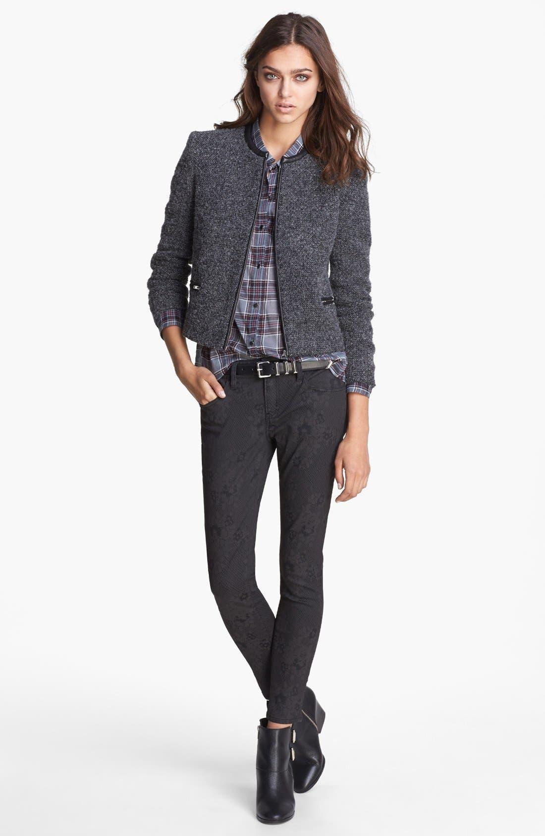 Alternate Image 3  - The Kooples Skinny Print Stretch Jeans