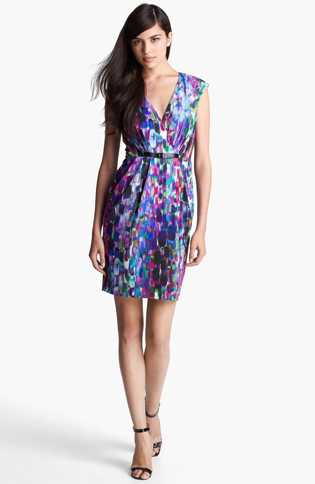 Main Image - Ivy & Blu Print Jersey Dress (Petite)