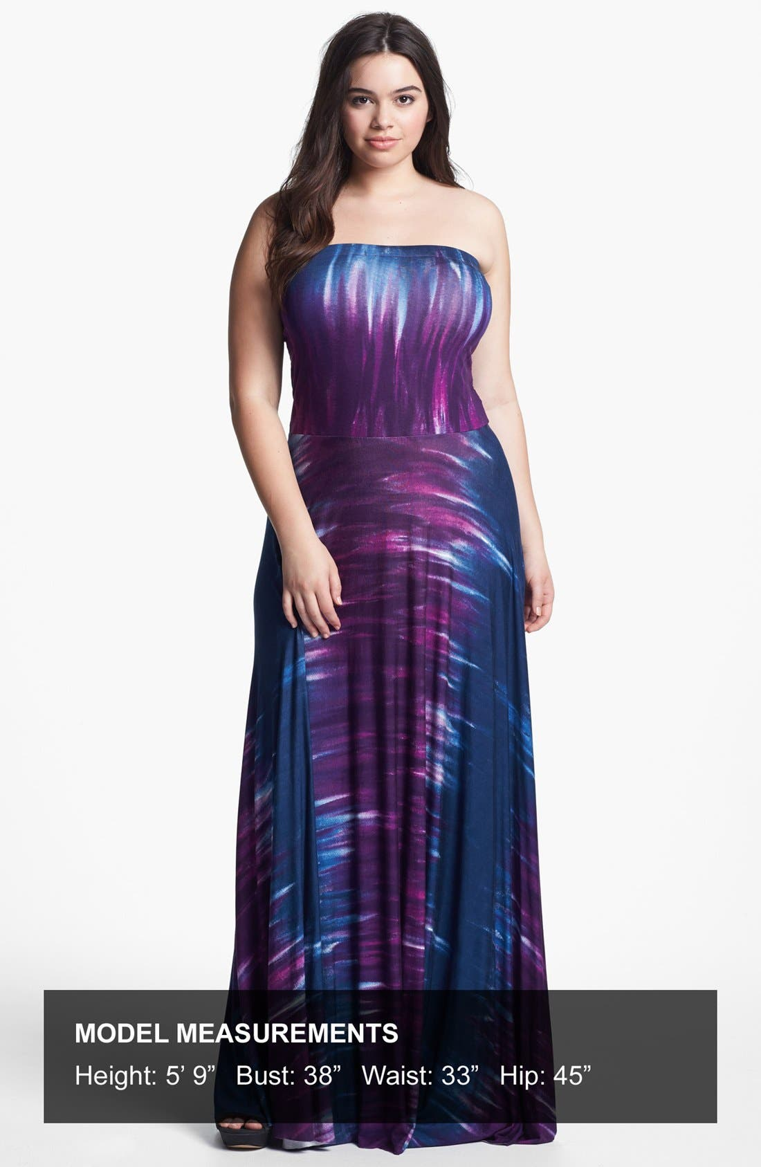 Alternate Image 4  - Felicity & Coco Strapless Jersey Maxi Dress (Plus Size) (Nordstrom Exclusive)