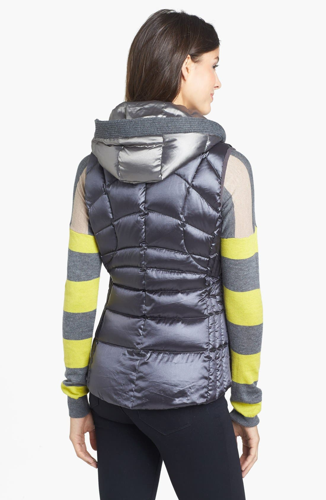 Alternate Image 2  - Bernardo Hooded Insert Goose Down Vest (Regular & Petite)