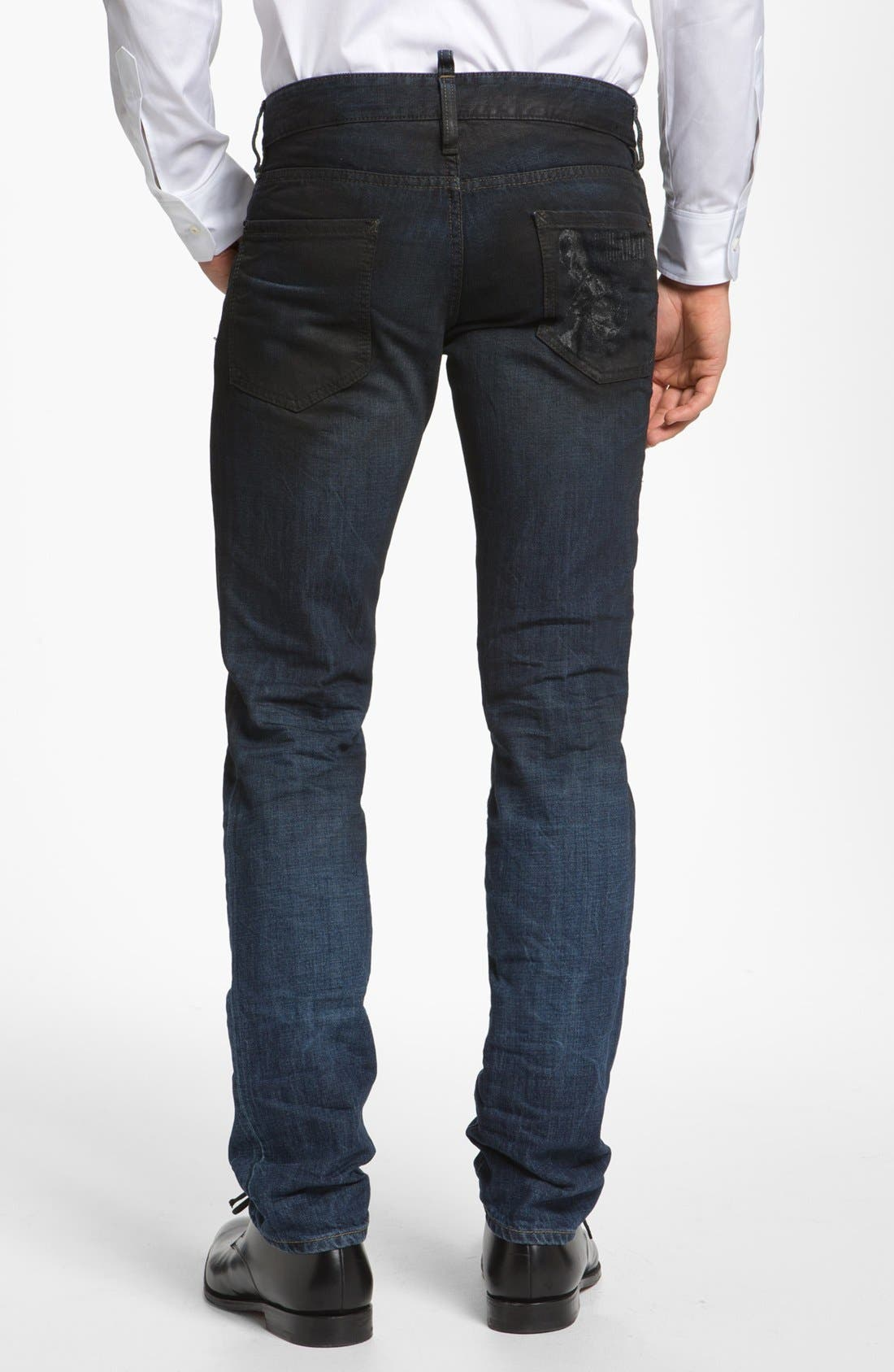 Alternate Image 2  - Dsquared2 Slim Fit Jeans (Blue)