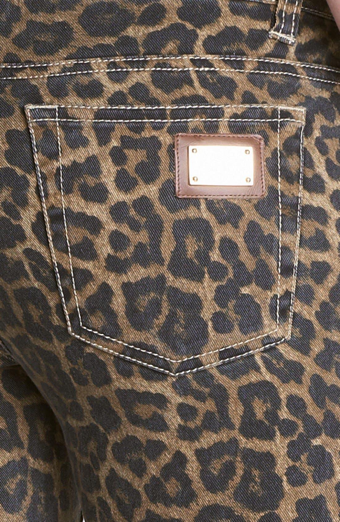 Alternate Image 2  - MICHAEL Michael Kors Jaguar Spot Skinny Jeans