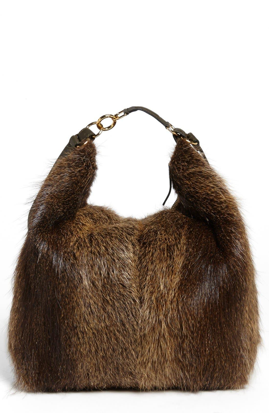 Main Image - Marni Convertible Fur & Leather Backpack