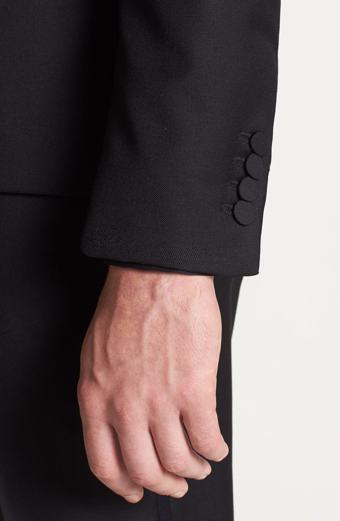 Alternate Image 4  - The Kooples Trim Fit Black Wool Tuxedo Jacket