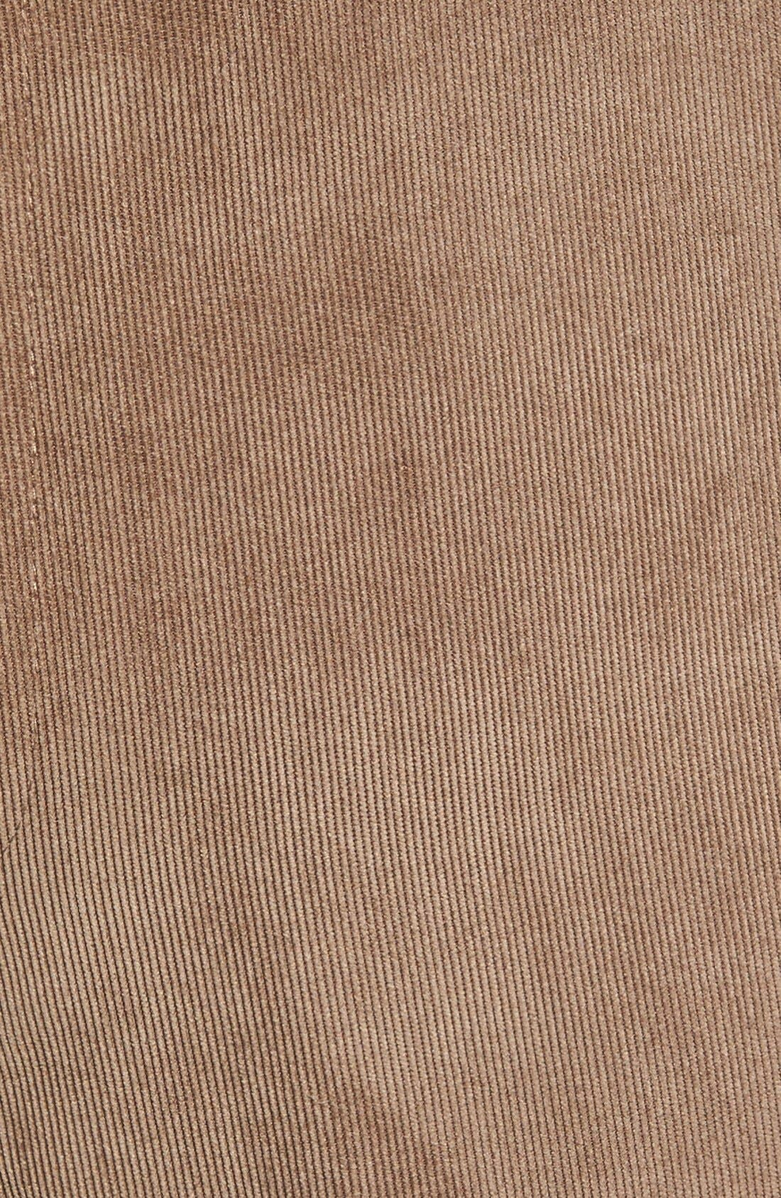 Alternate Image 3  - Linea Naturale 'Micro-Aire' Flat Front Corduroy Trousers