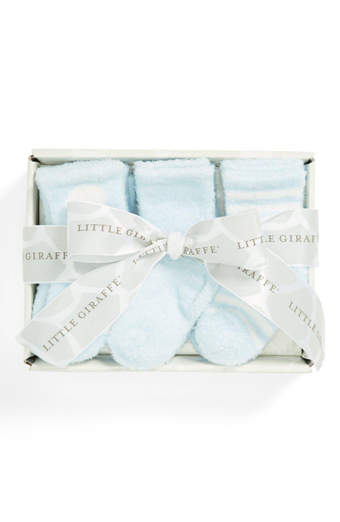 Alternate Image 1 Selected - Little Giraffe 'Box of Socks™' Set (6-Pack) (Baby Boys)
