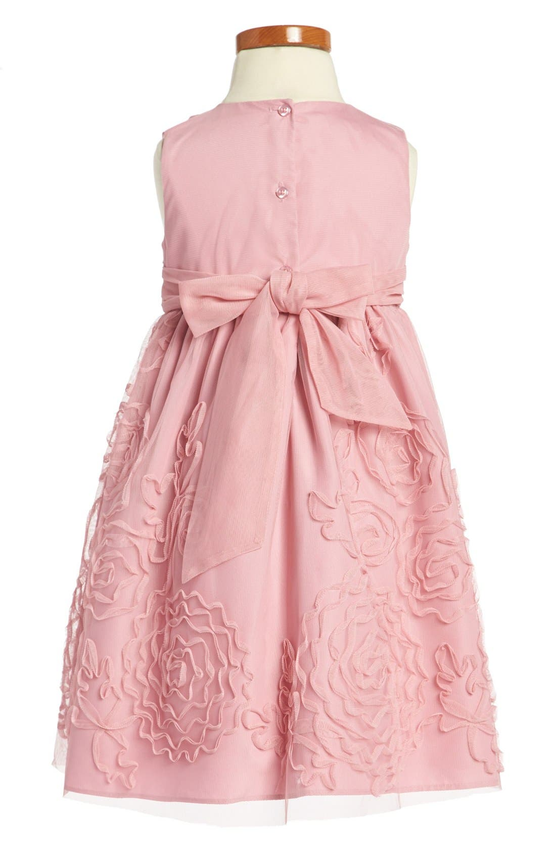 Alternate Image 2  - Pippa & Julie Sleeveless Dress (Toddler Girls)