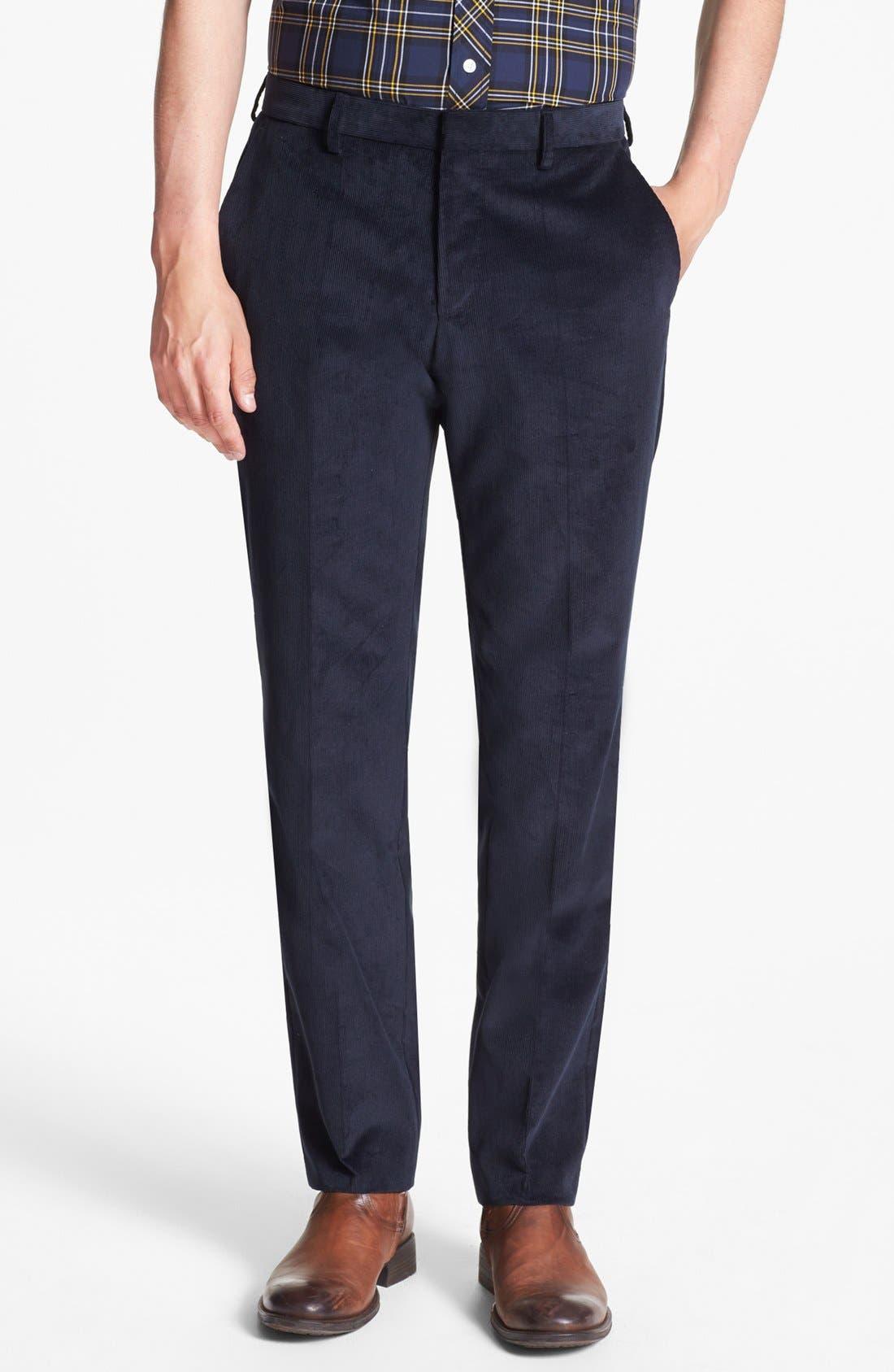 Alternate Image 5  - BOSS 'Hedge/Gense' Trim Fit Corduroy Suit
