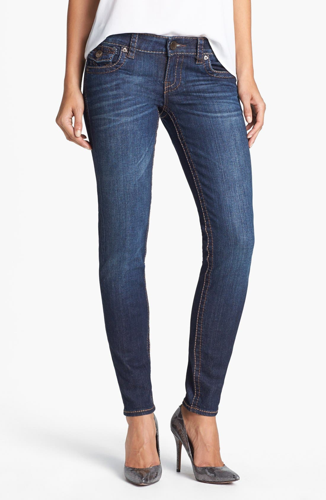 Main Image - KUT from the Kloth 'Kate' Skinny Jeans (Cared)