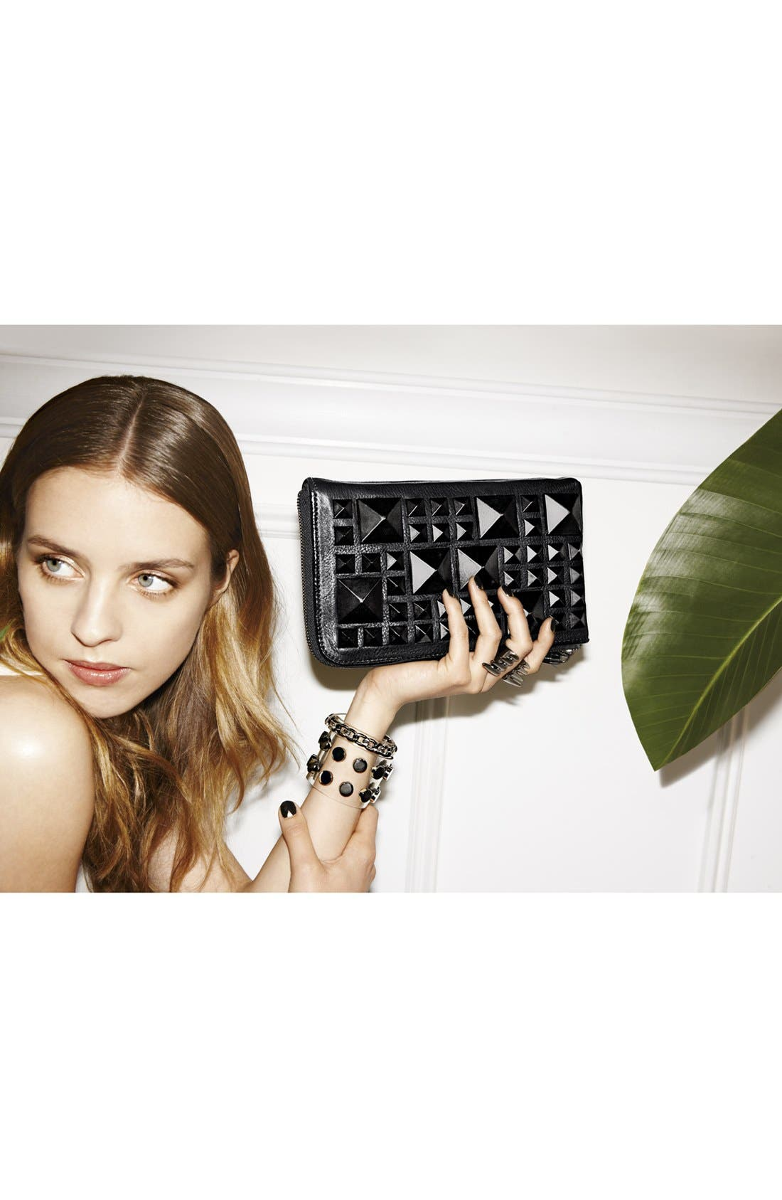 Alternate Image 7  - POVERTY FLATS by rian Matte Pyramid Stud Zip Clutch