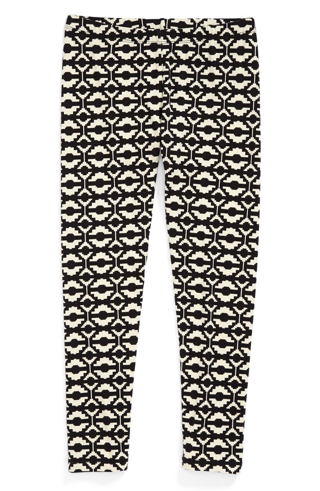 Alternate Image 1 Selected - Mia Chica Stretch Cotton Leggings (Big Girls)