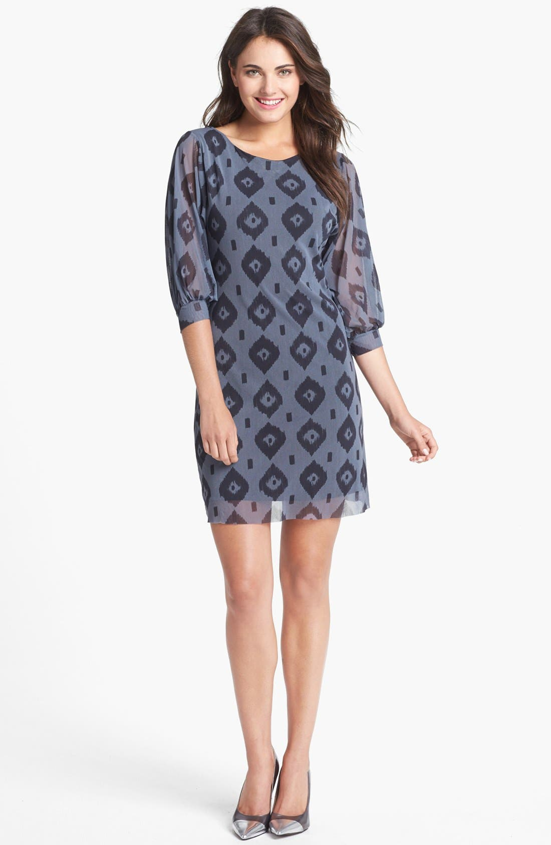Main Image - Sweet Pea by Stacy Frati Print Mesh Shift Dress