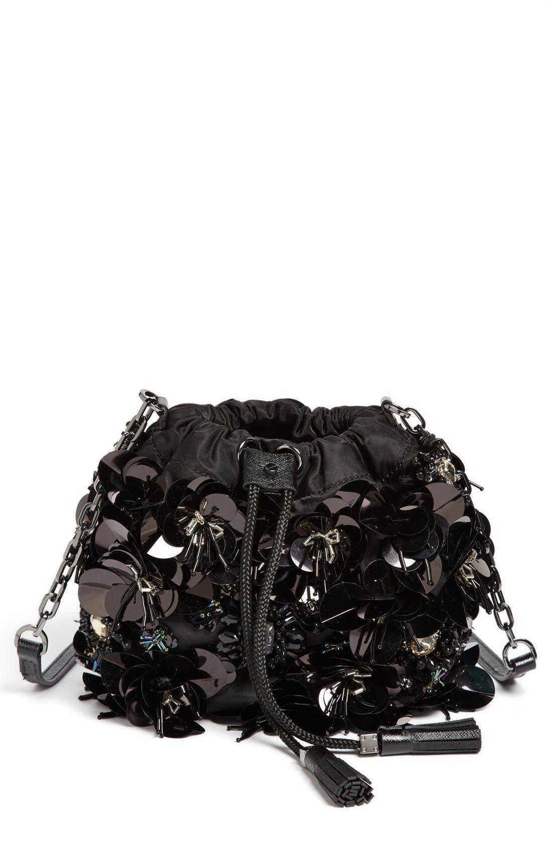 Main Image - Tory Burch 'Flower Cluster - Mini' Crossbody Bag