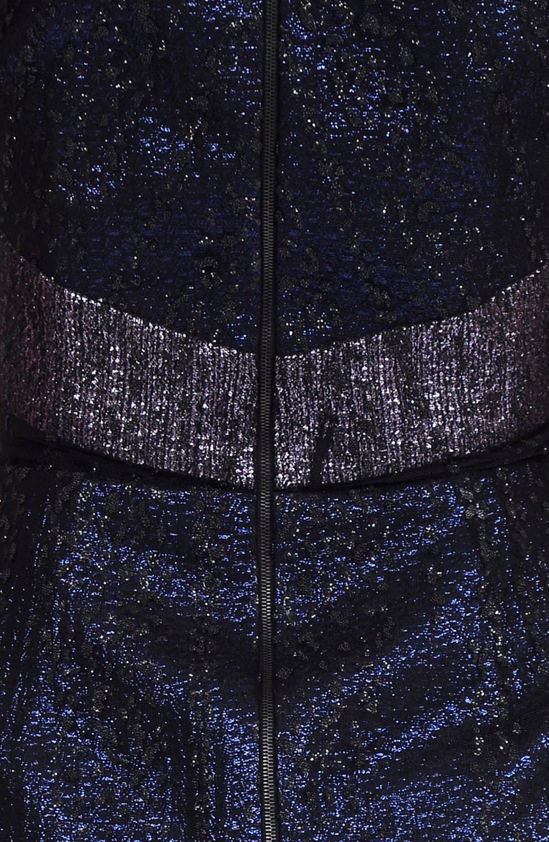 Alternate Image 3  - Phoebe by Kay Unger Mixed Media Sheath Dress