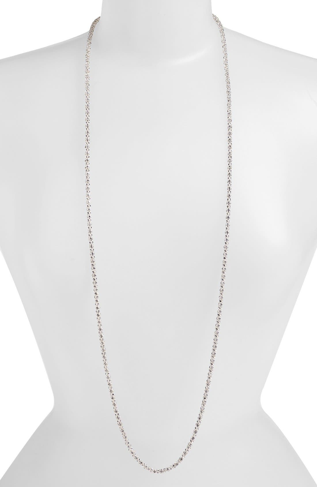 Alternate Image 1 Selected - Anne Klein Pavé Long Layering Necklace