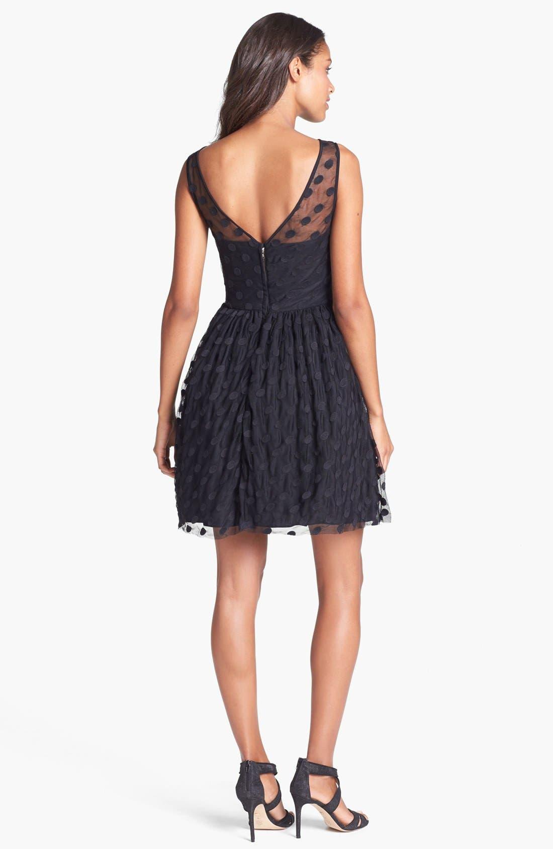 Alternate Image 2  - Jill Jill Stuart Polka Dot Mesh Fit & Flare Dress