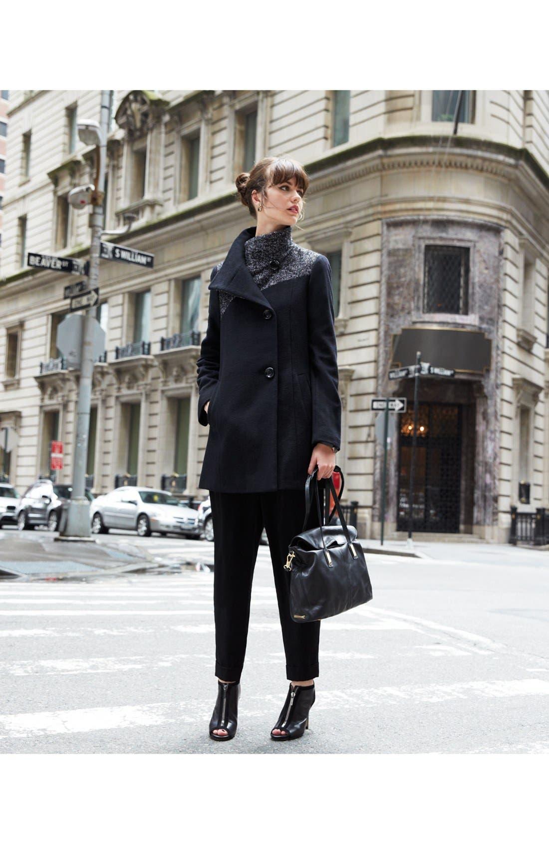 Alternate Image 6  - Ellen Tracy Contrast Yoke Wool Blend Coat
