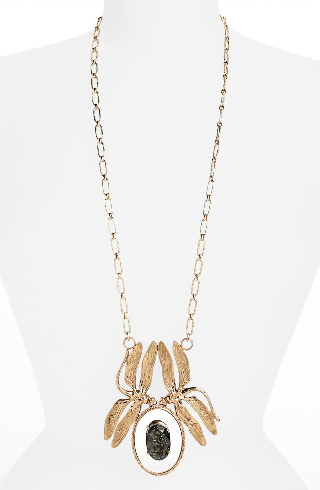 Main Image - Tory Burch 'Mirrored' Dragonfly Pendant Necklace