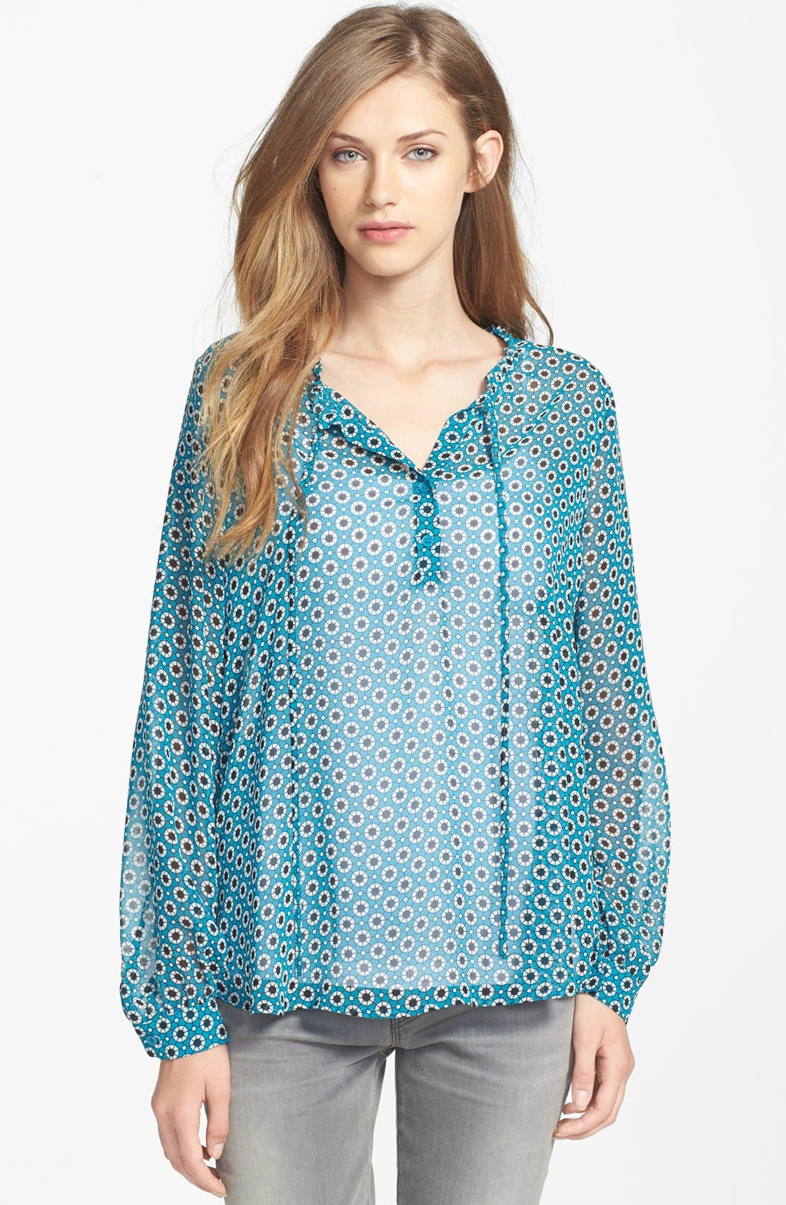 Alternate Image 1 Selected - Pleione Print Peasant Blouse