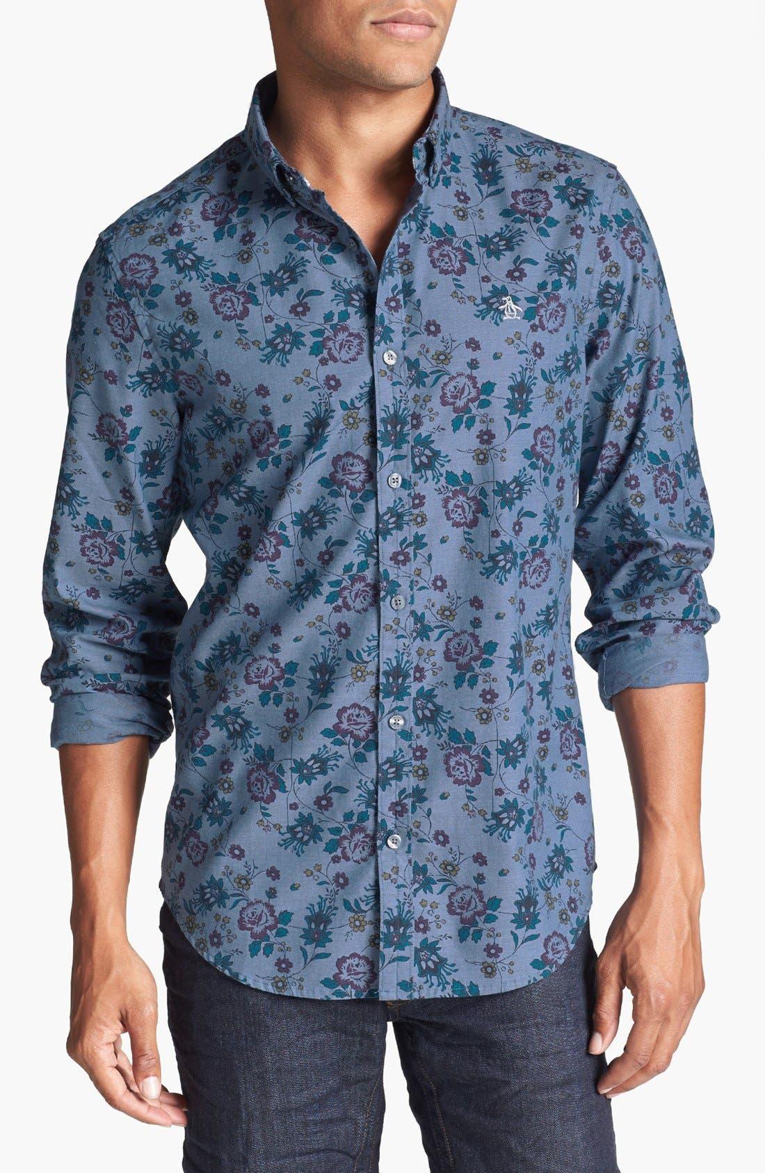 Main Image - Original Penguin Floral Print Chambray Shirt