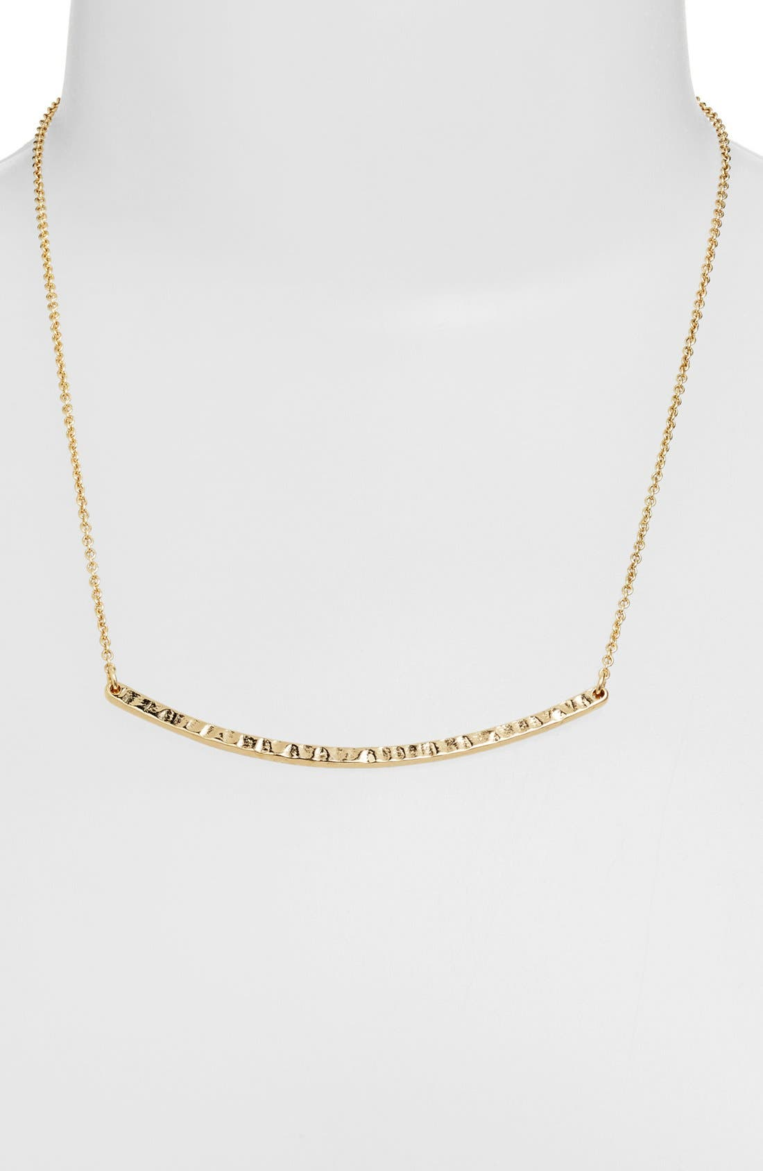 Alternate Image 1 Selected - Stephan & Co. Curved Bar Necklace