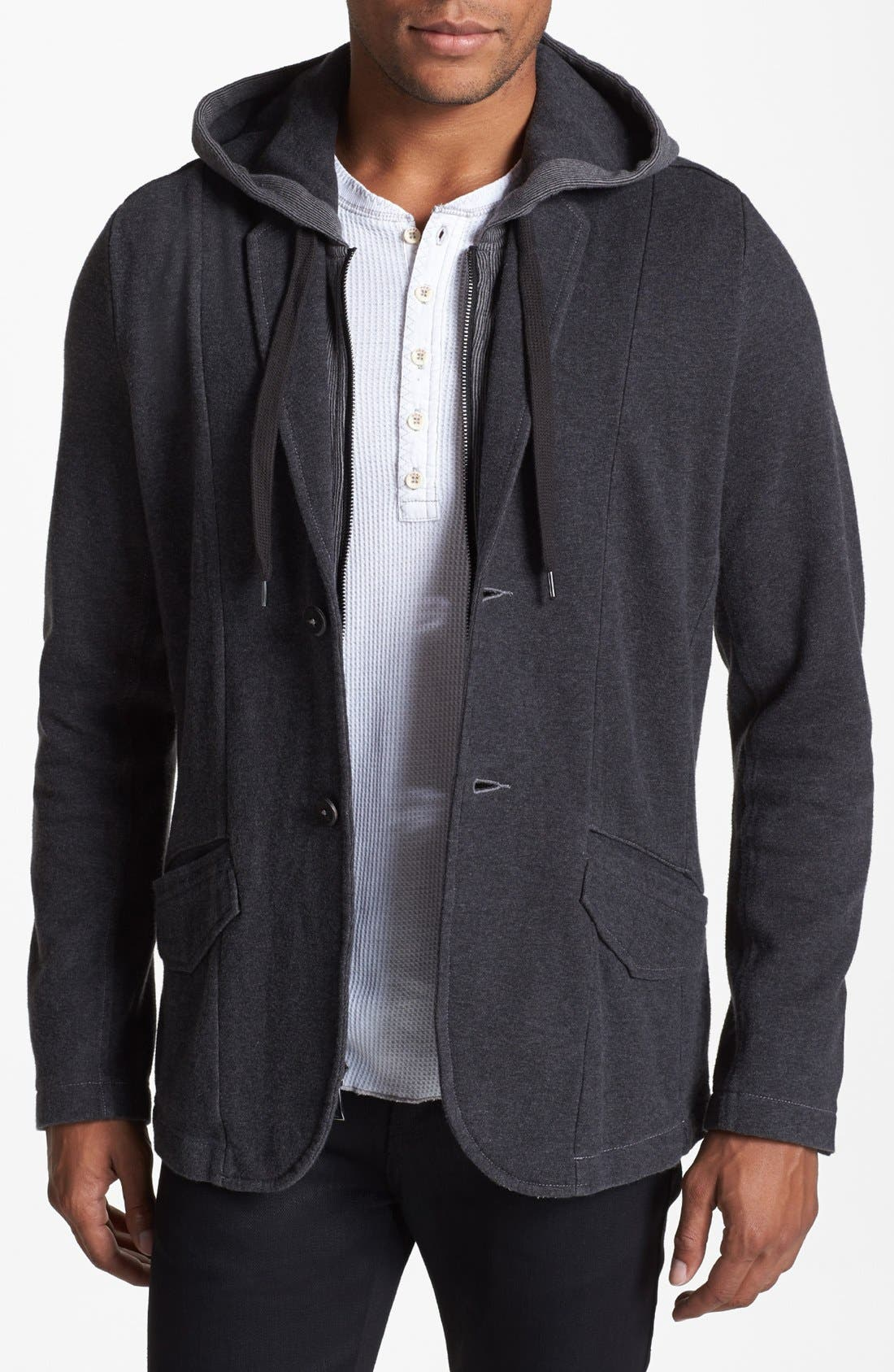 Alternate Image 1 Selected - Howe 'Four on the Floor' Jersey Sportcoat with Removable Hood