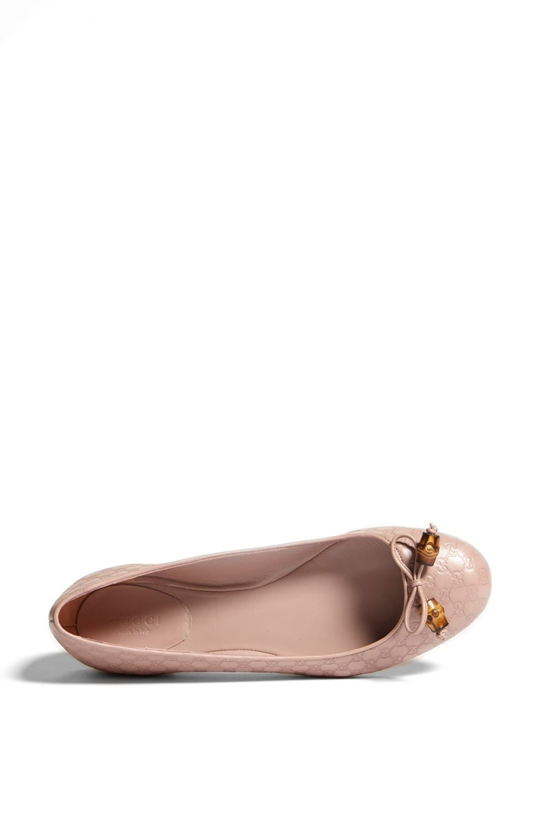 Alternate Image 3  - Gucci 'Sylvie' Bamboo Bow Ballet Flat