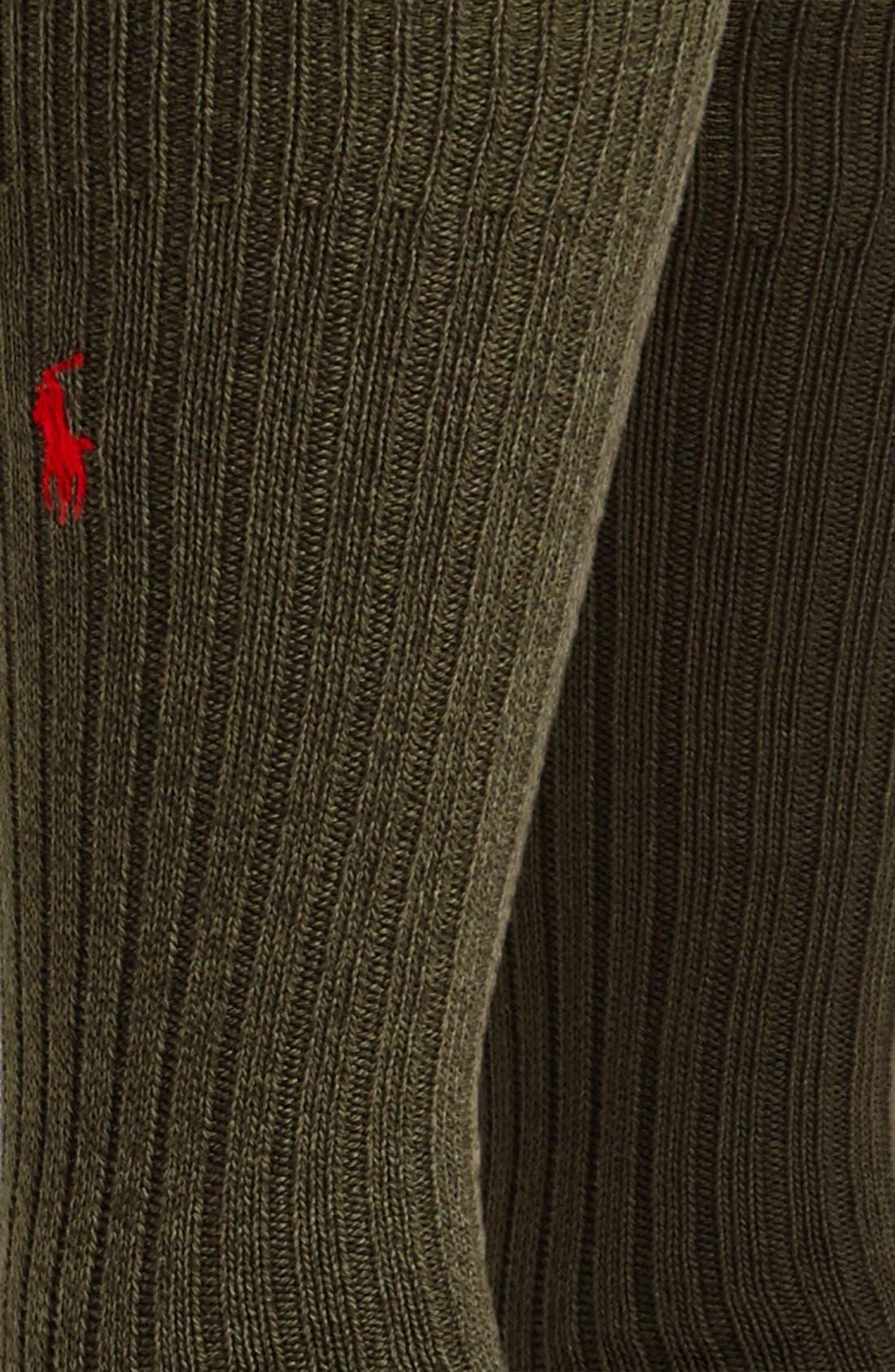 Alternate Image 2  - Polo Ralph Lauren Ribbed Socks