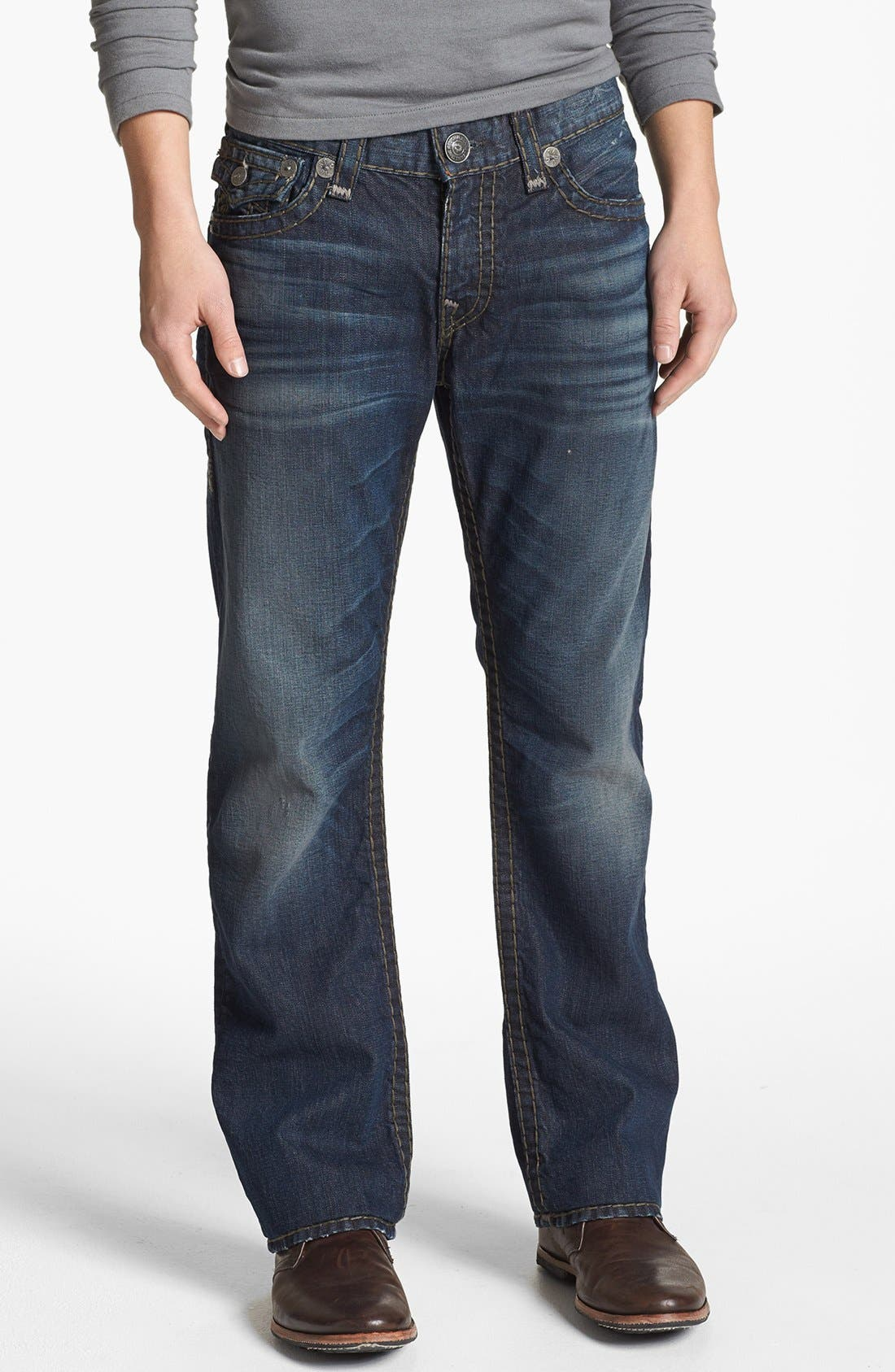 Alternate Image 2  - True Religion Brand Jeans 'Ricky - Super T' Straight Leg Jeans (Asjd Breaking Grounds)